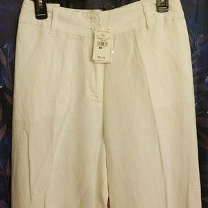 bb5e4602d5a95 Ashley Stewart Pants - ASHLEY STEWART WHITE LINEN PANT